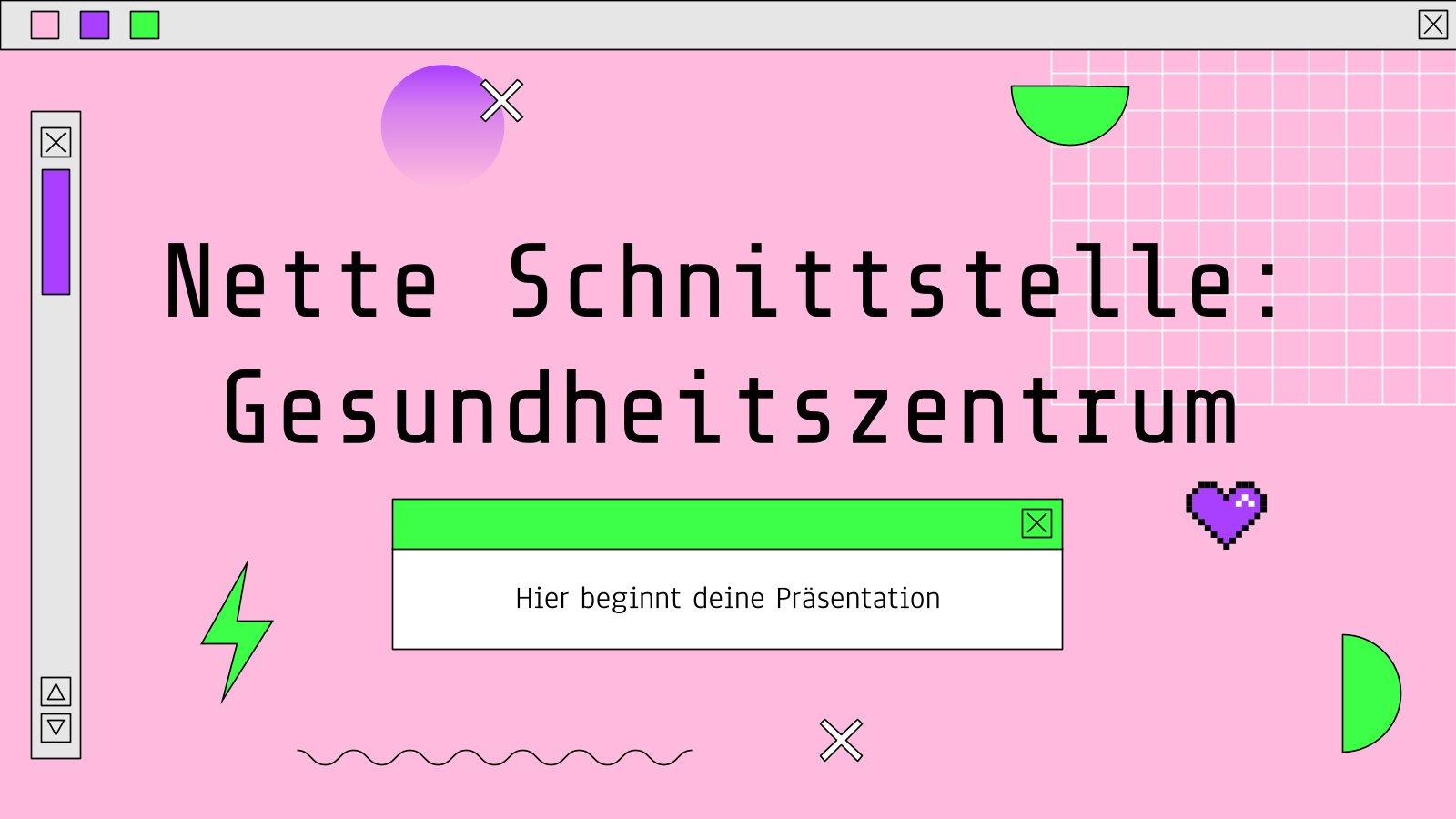 Modelo de apresentação Nette Schnittstelle - Gesundheitszentrum