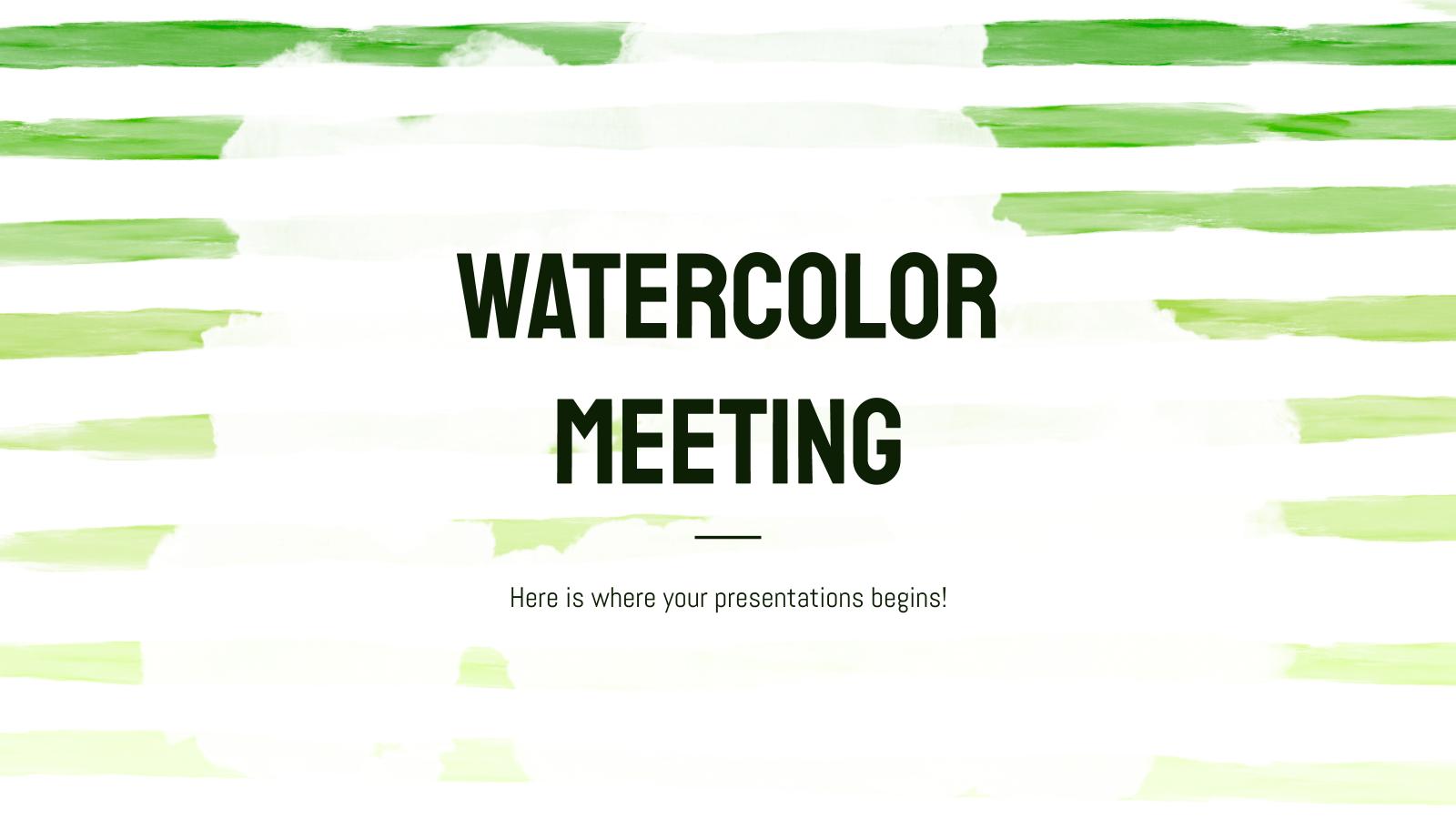Watercolor Meeting presentation template