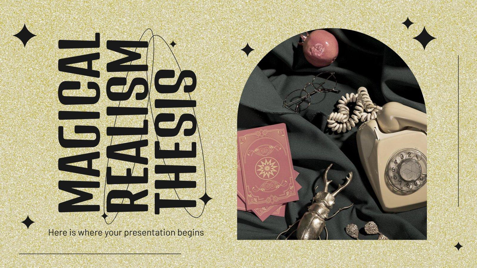 Modelo de apresentação Tese de realismo mágico