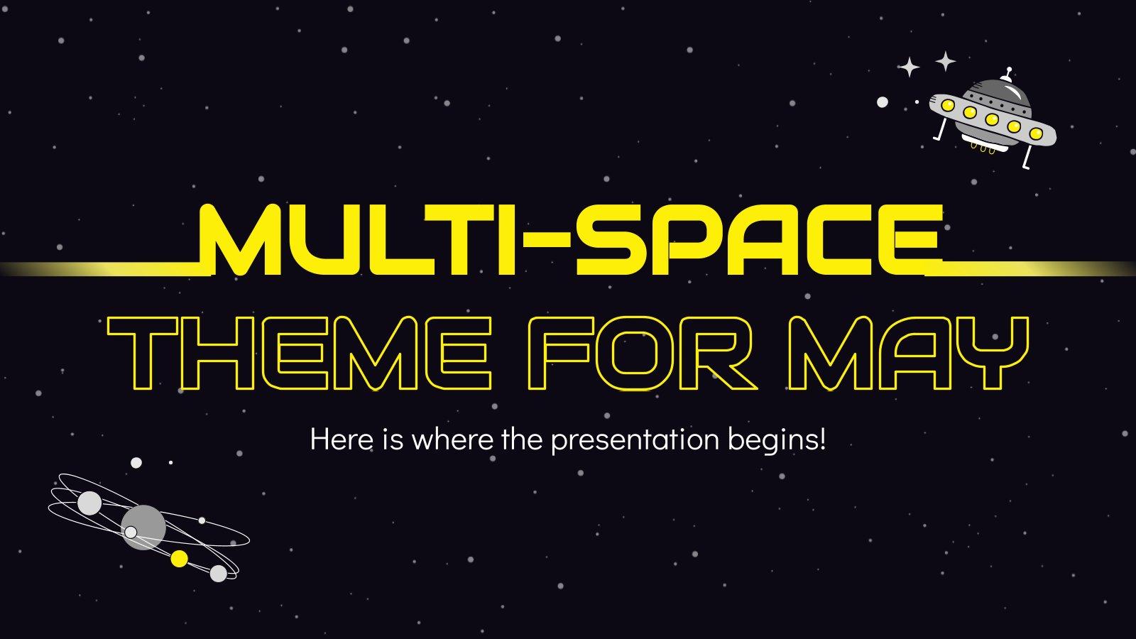 Modelo de apresentação Tema espacial para maio