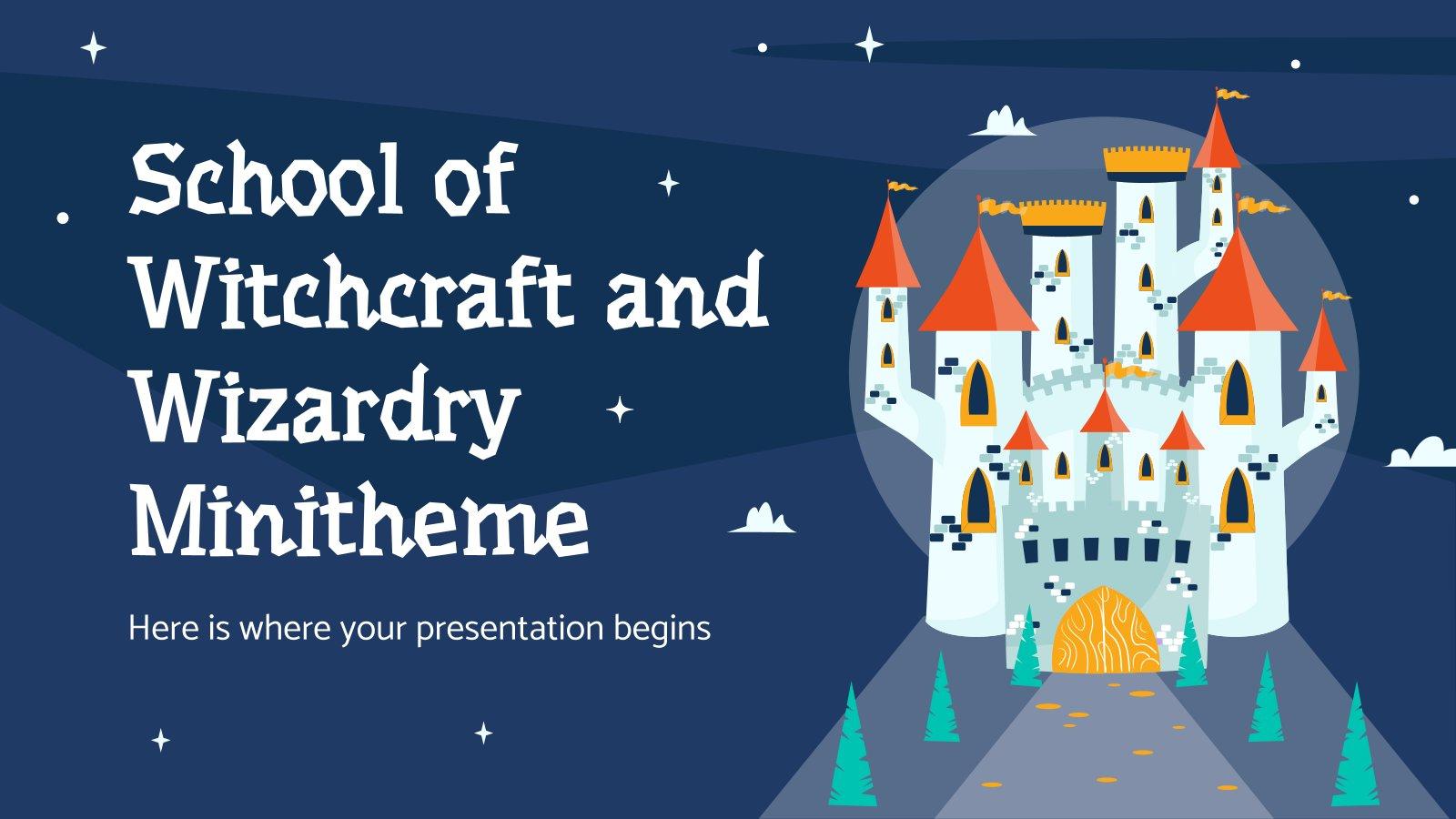 Schule für Hexerei und Zauberei Minithema Präsentationsvorlage
