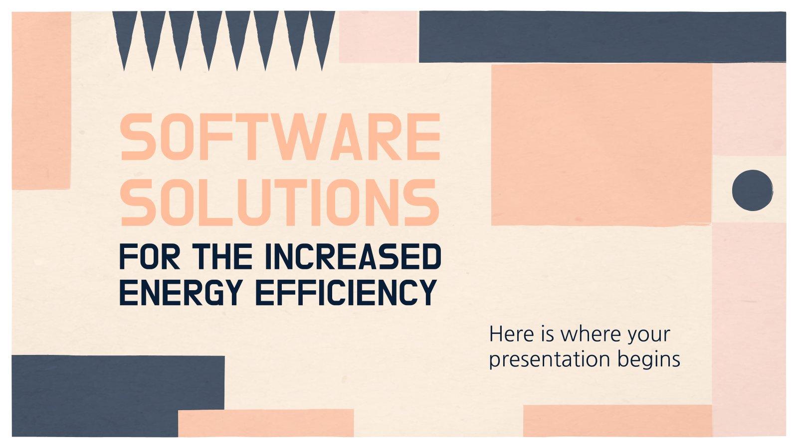 Solutions logicielles pour l'amélioration de l'efficacité énergétique : Modèles de présentation