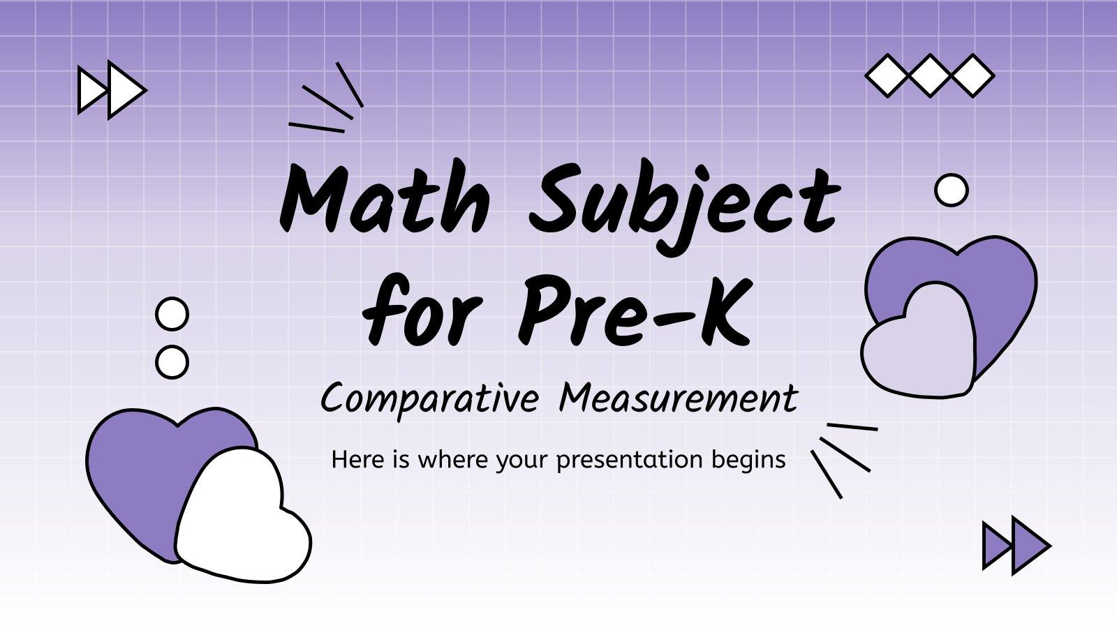 Plantilla de presentación Matemáticas: Unidades de medida