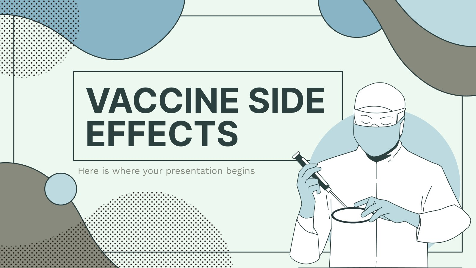 Plantilla de presentación Efectos secundarios de la vacuna