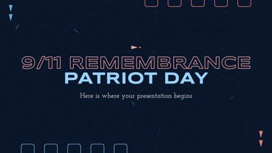 Modelo de apresentação Dia de Lembrança do 11 de setembro