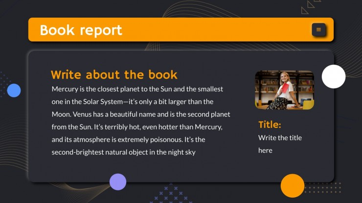 My Book Reviews presentation template
