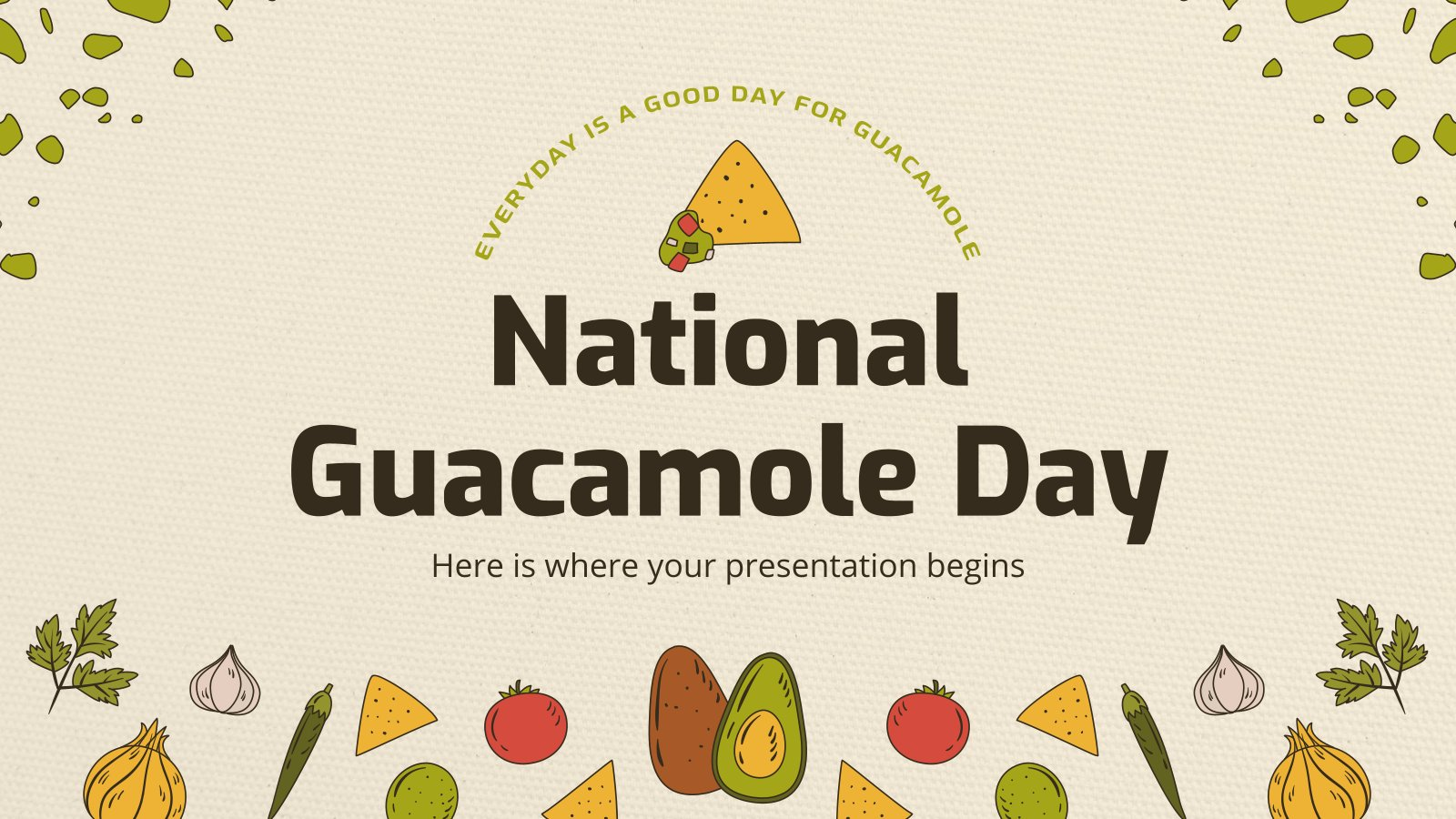 National Guacamole Day presentation template