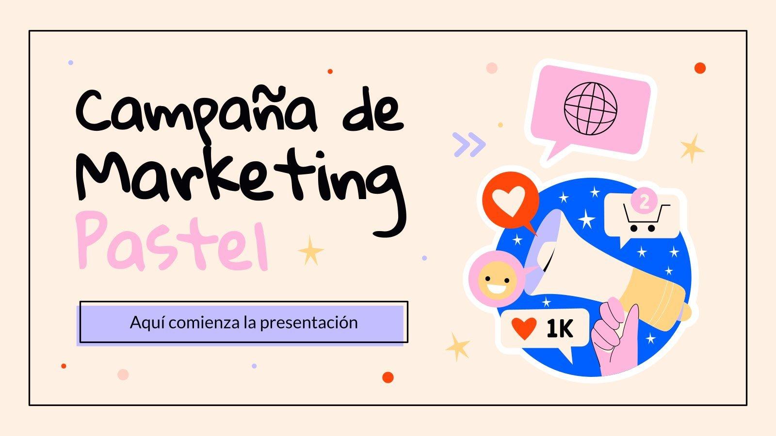 Campaña de marketing pastel : Modèles de présentation
