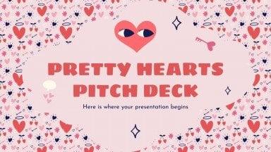 Pitch deck avec des cœurs jolis : Modèles de présentation