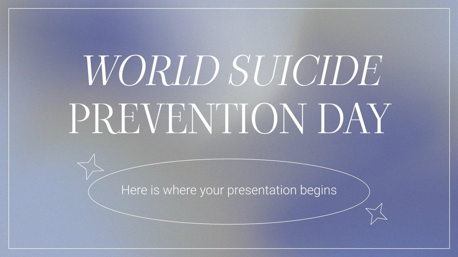 World Suicide Prevention Day presentation template