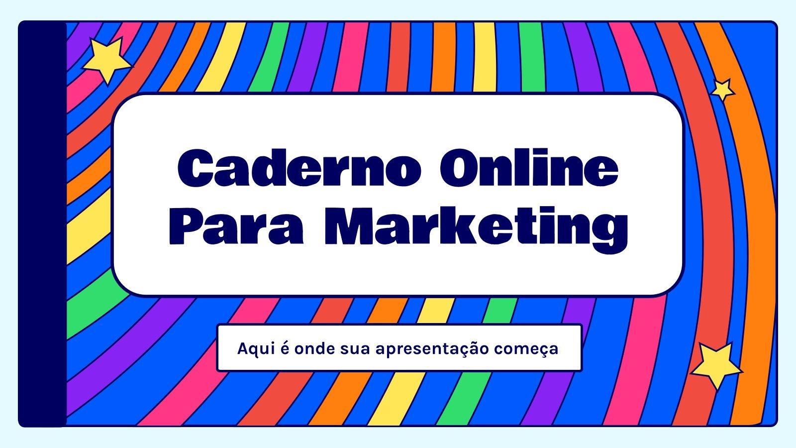 Caderno Online para Marketing presentation template