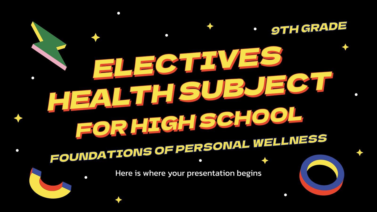 Matière facultative : Fondements du bien-être personnel : Modèles de présentation