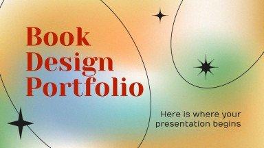 Book Design Portfolio presentation template