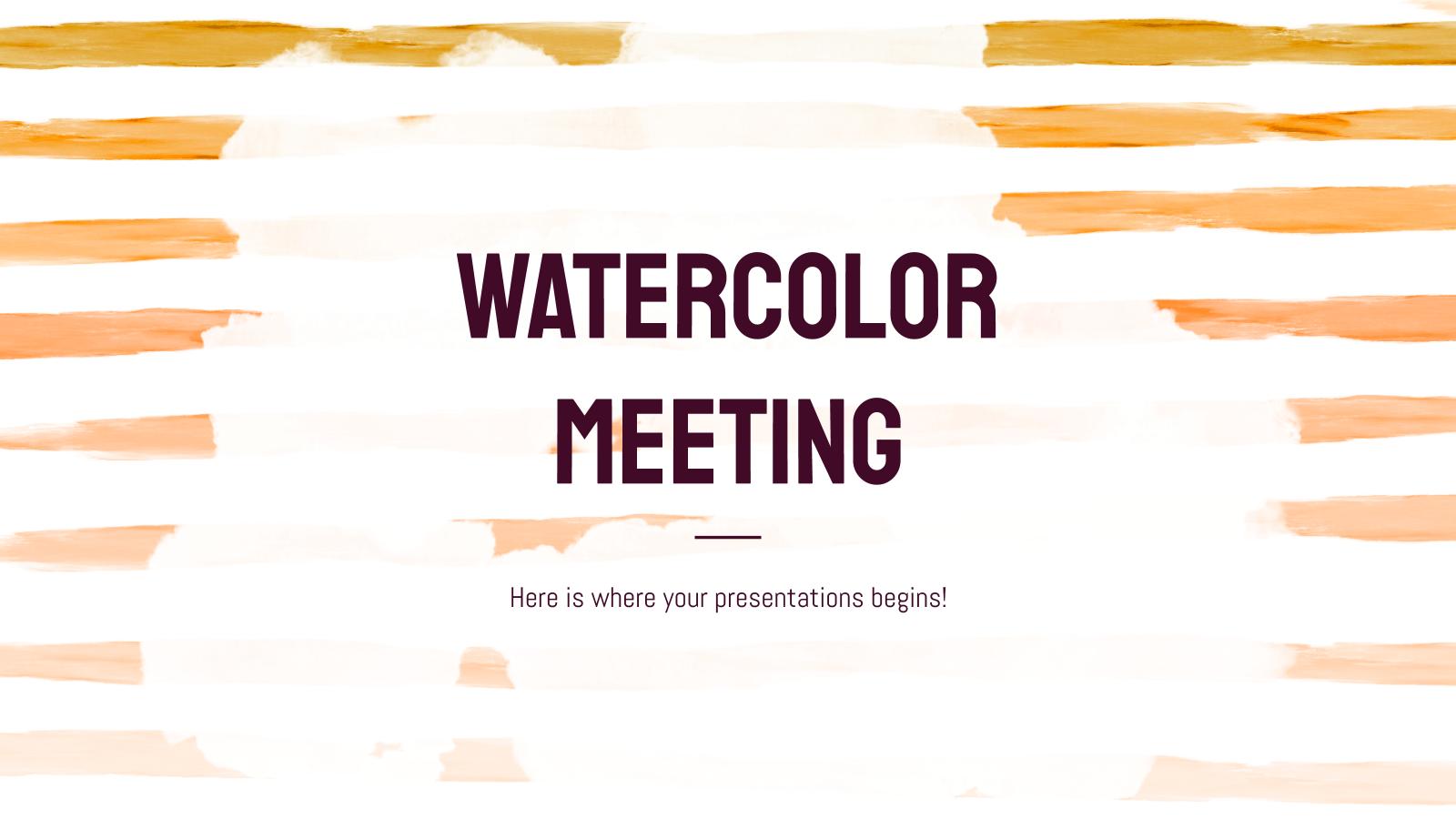 Plantilla de presentación Efecto acuarela para reuniones