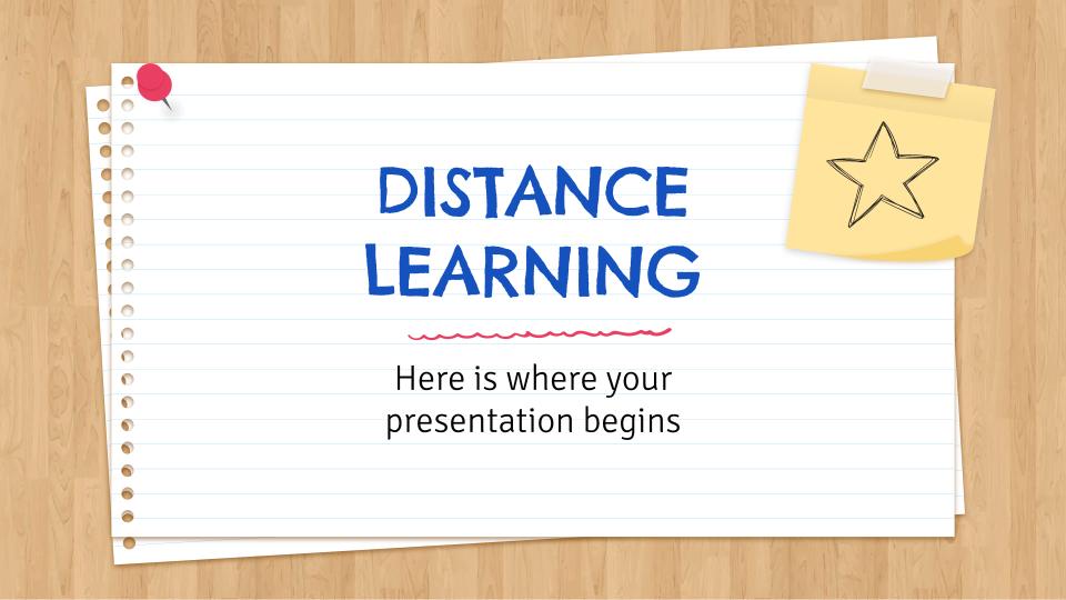 Plantilla de presentación Educación a distancia