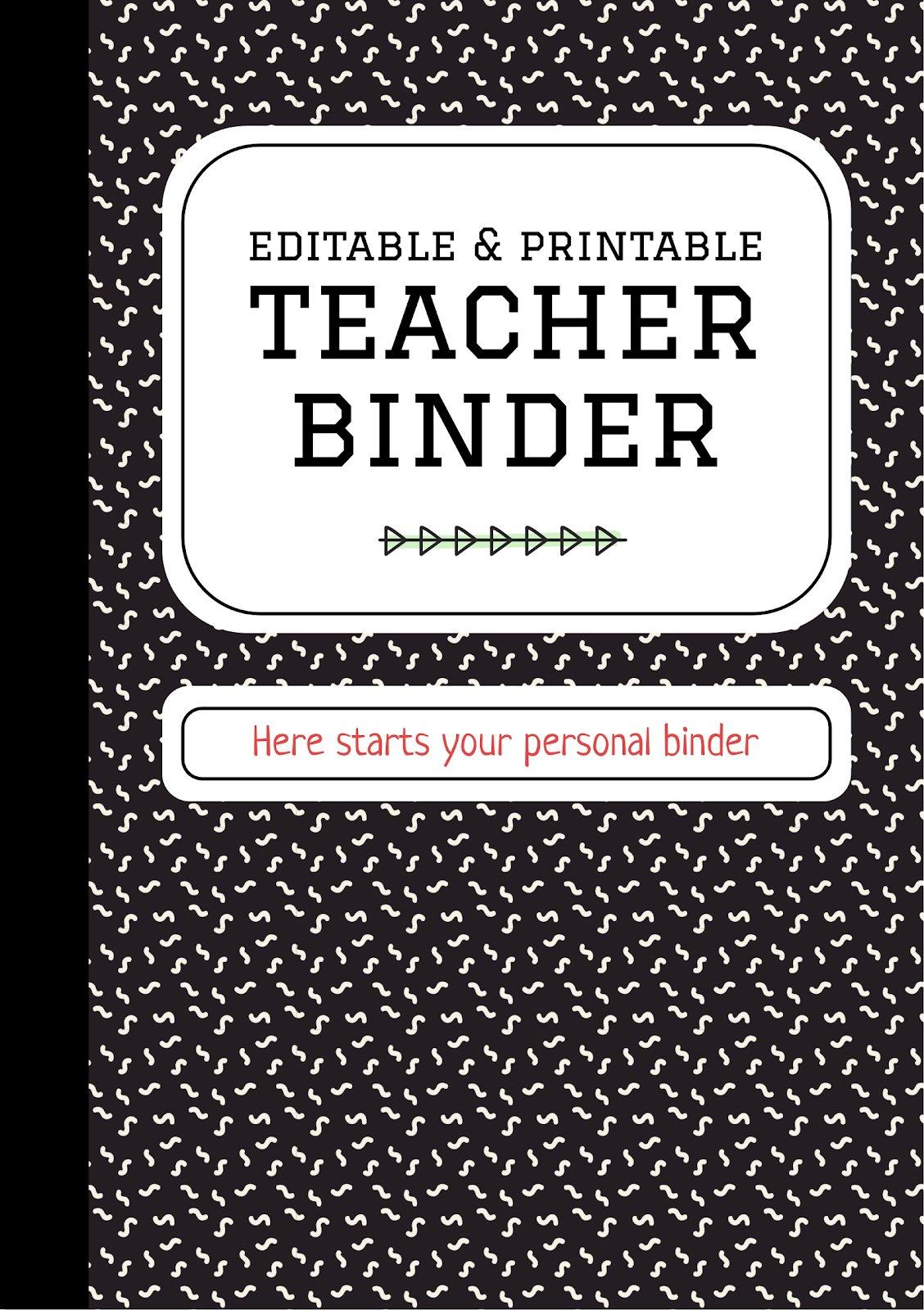 Editable & Printable Teacher Binder presentation template