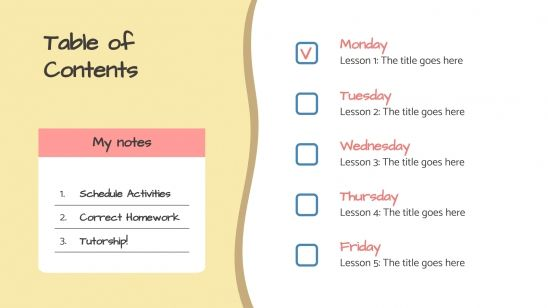 Lesson Planner presentation template
