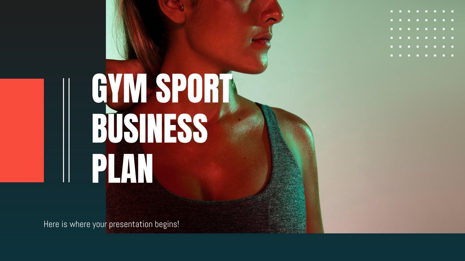 Gym Sport Geschäftsplan Präsentationsvorlage