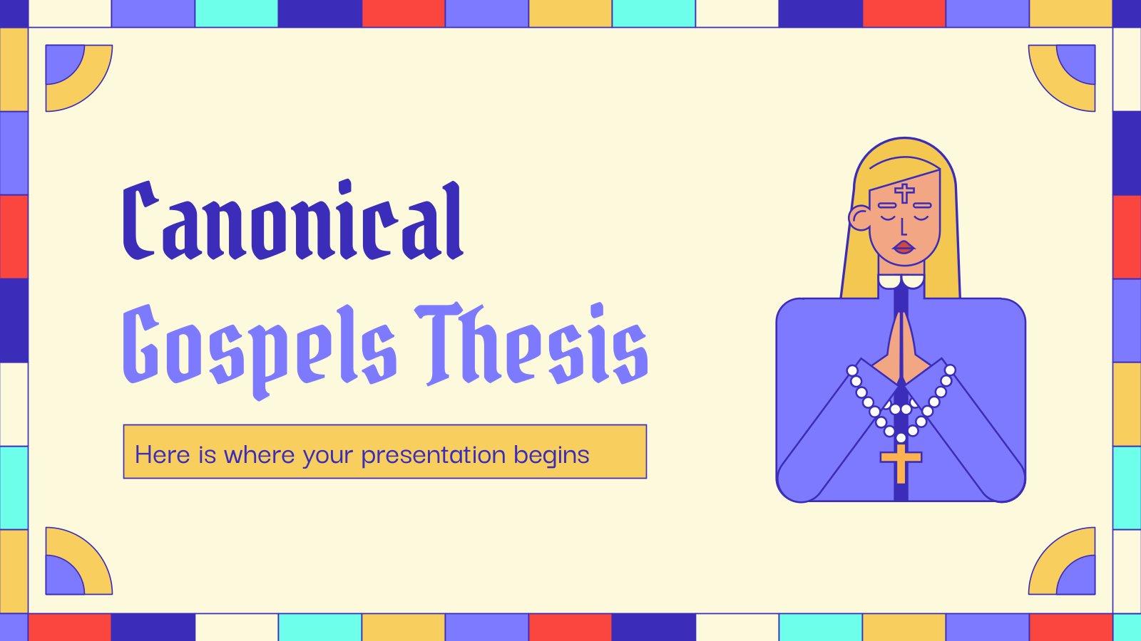 Modelo de apresentação Tese dos evangelhos canônicos