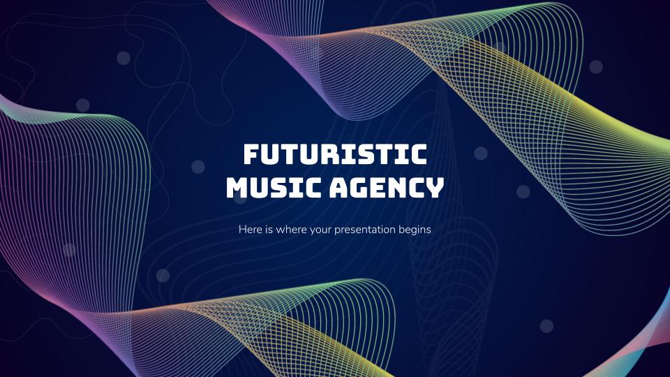 Futuristic Music Agency presentation template