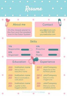 Plantilla de presentación CV para canguros