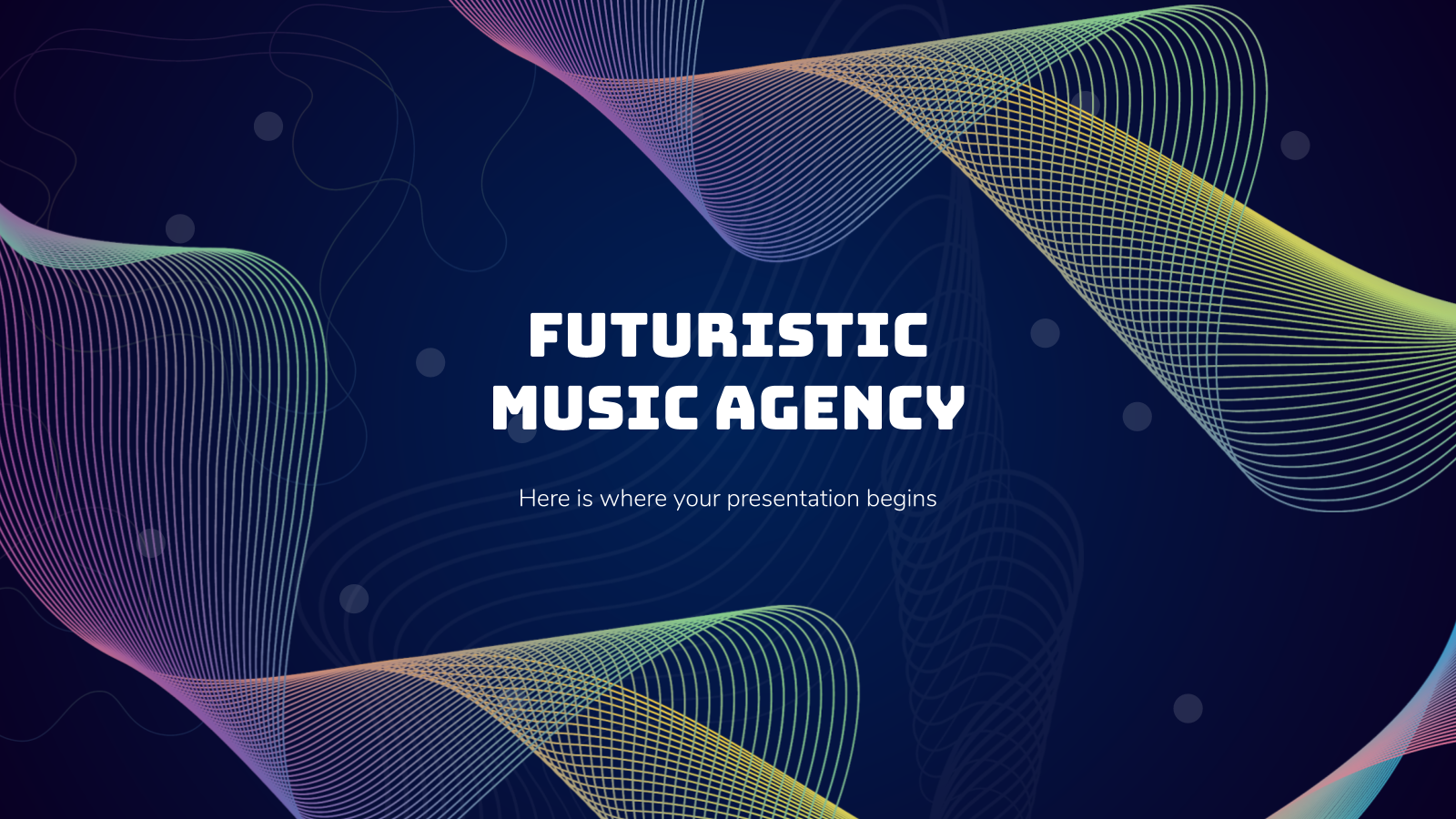 Futuristic Music Agency presentation template