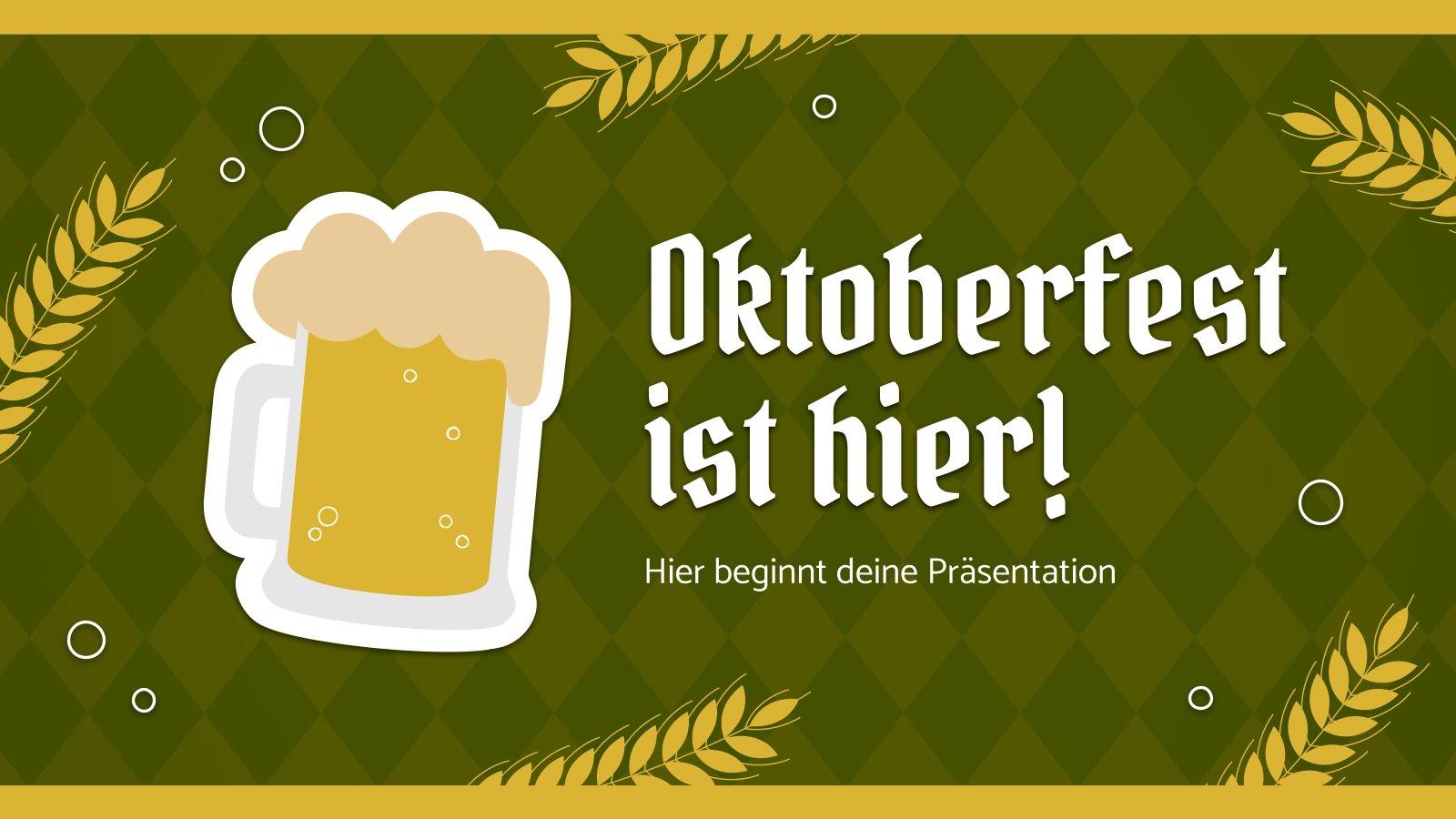 Modelo de apresentação Oktoberfest ist hier!