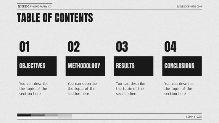 Thèse sur les types de caméras : Modèles de présentation