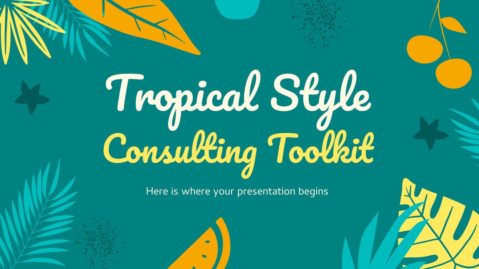 Boîte à outils de conseil de style tropical : Modèles de présentation