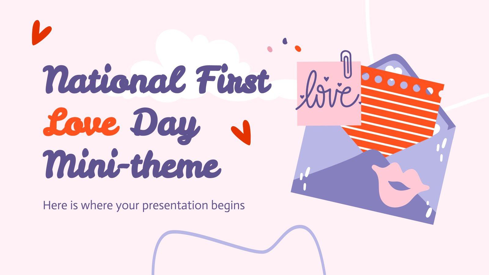 Modelo de apresentação Minitema do Dia Nacional do Primeiro Amor