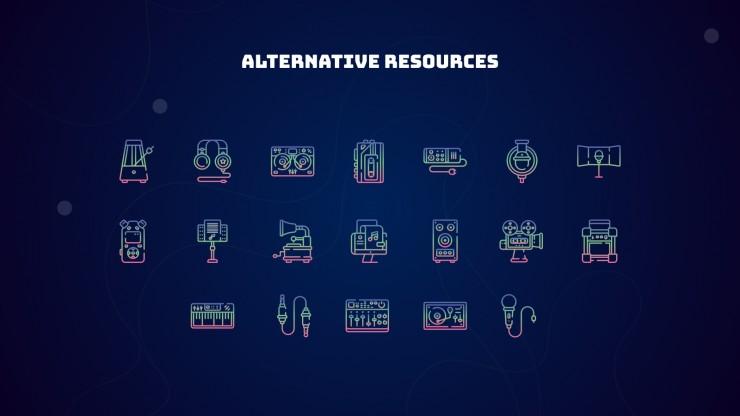 Agence musicale futuriste : Modèles de présentation