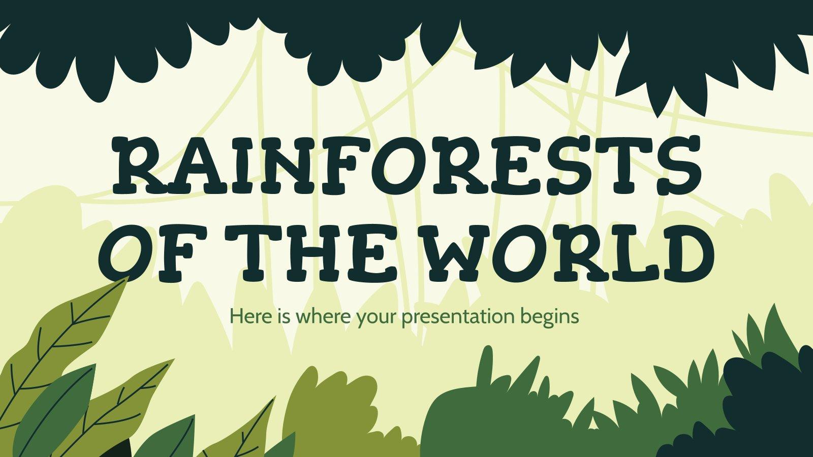 Plantilla de presentación Selva tropical del mundo