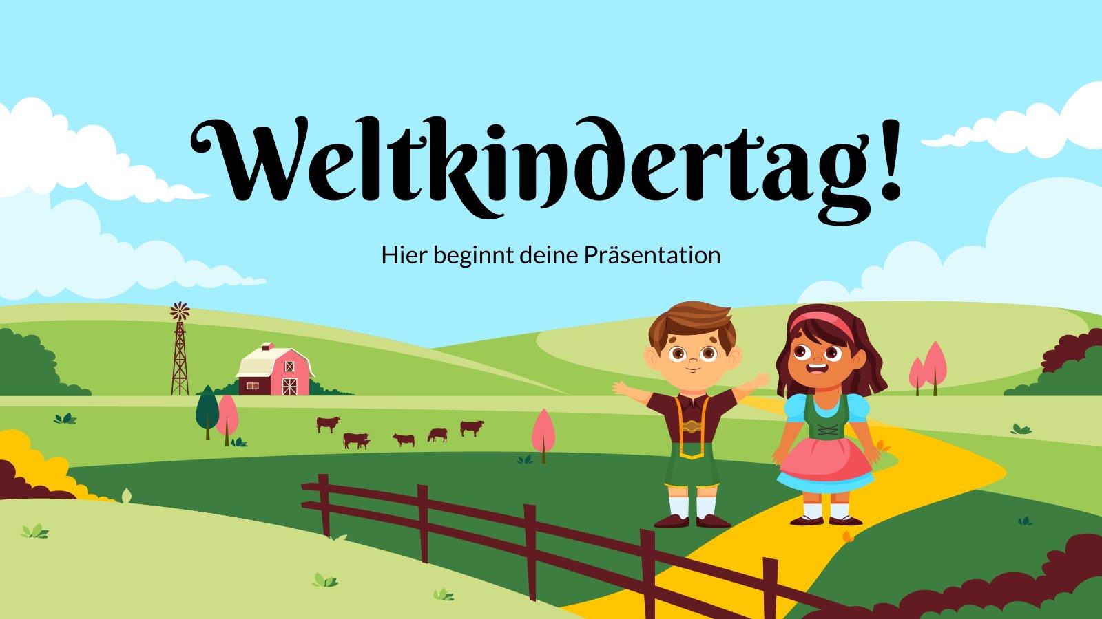 Weltkindertag! : Modèles de présentation