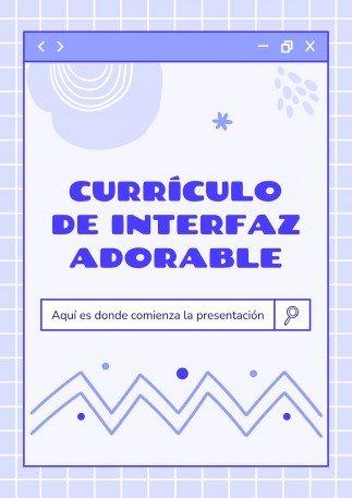 Plantilla de presentación Currículo de interfaz adorable