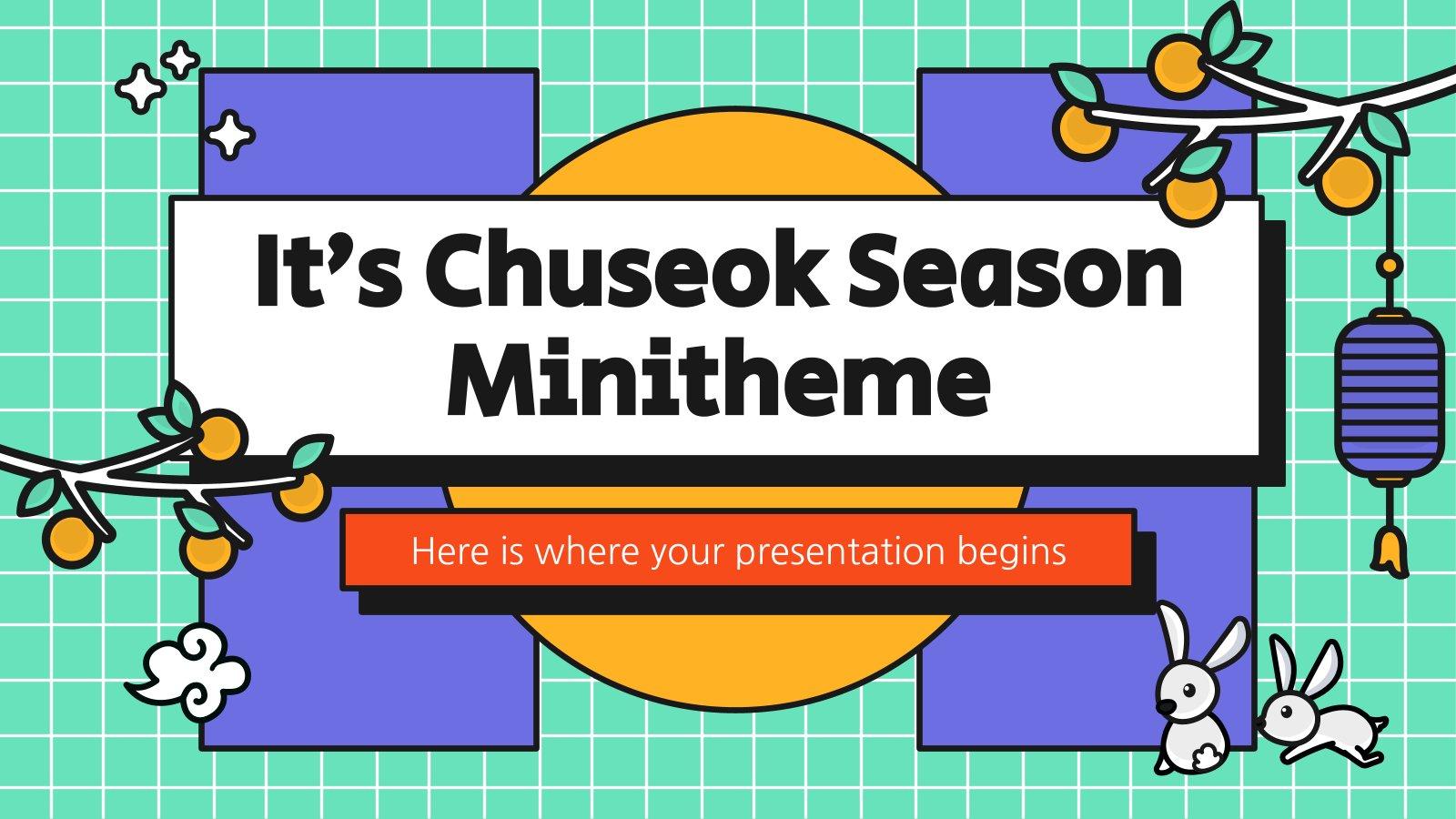 Minithema: Chuseok Präsentationsvorlage