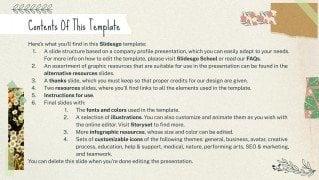 Firmenprofil: Scrapbook mit floralem Band Präsentationsvorlage