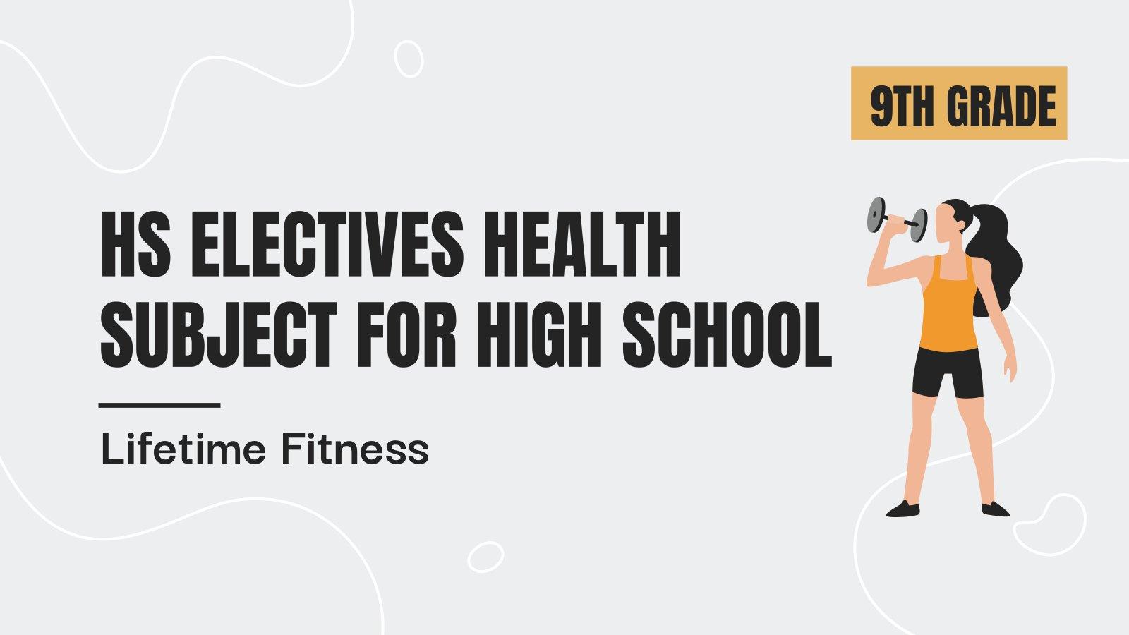 Modelo de apresentação Matéria eletiva para o ensino médio: Fitness para a vida