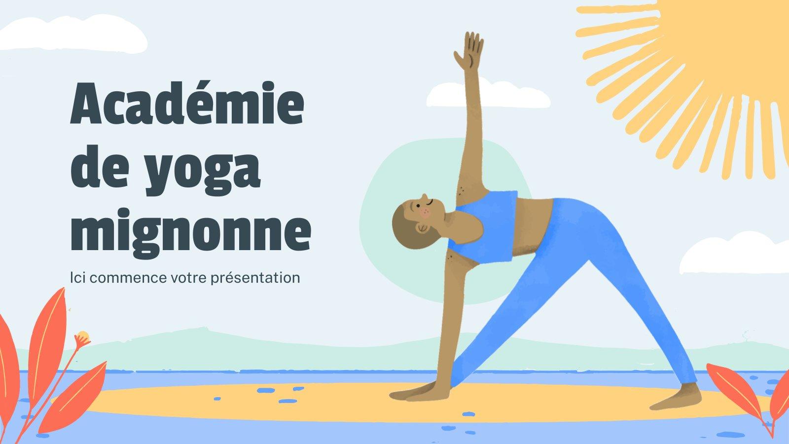 Süßes Yoga Akademie Minithema Präsentationsvorlage