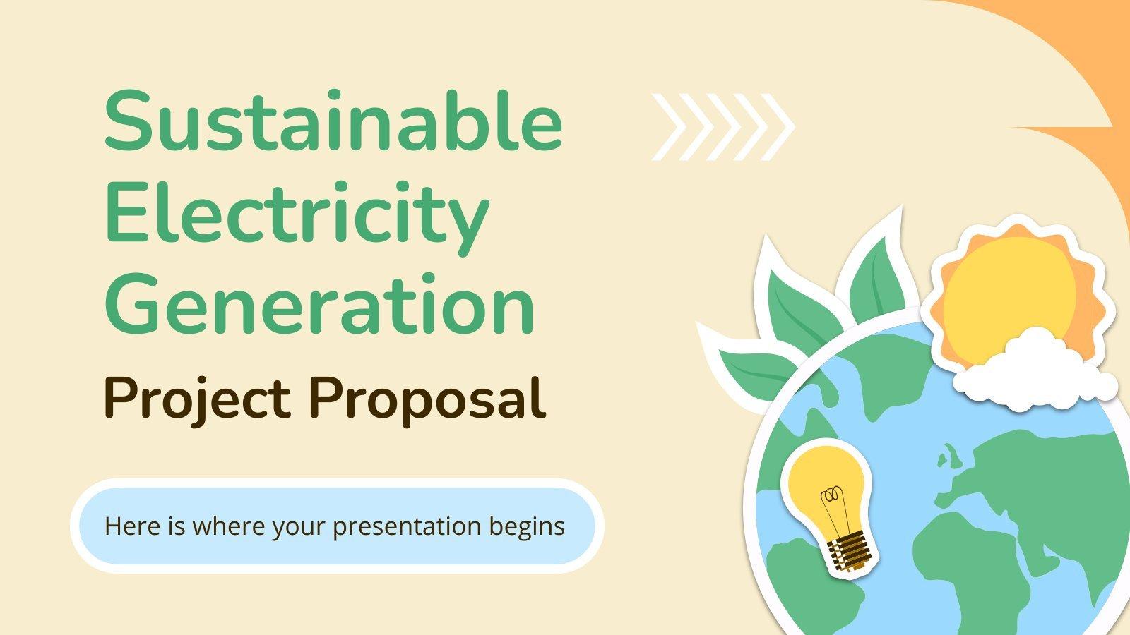 Proposition de projet de production durable d'électricité : Modèles de présentation