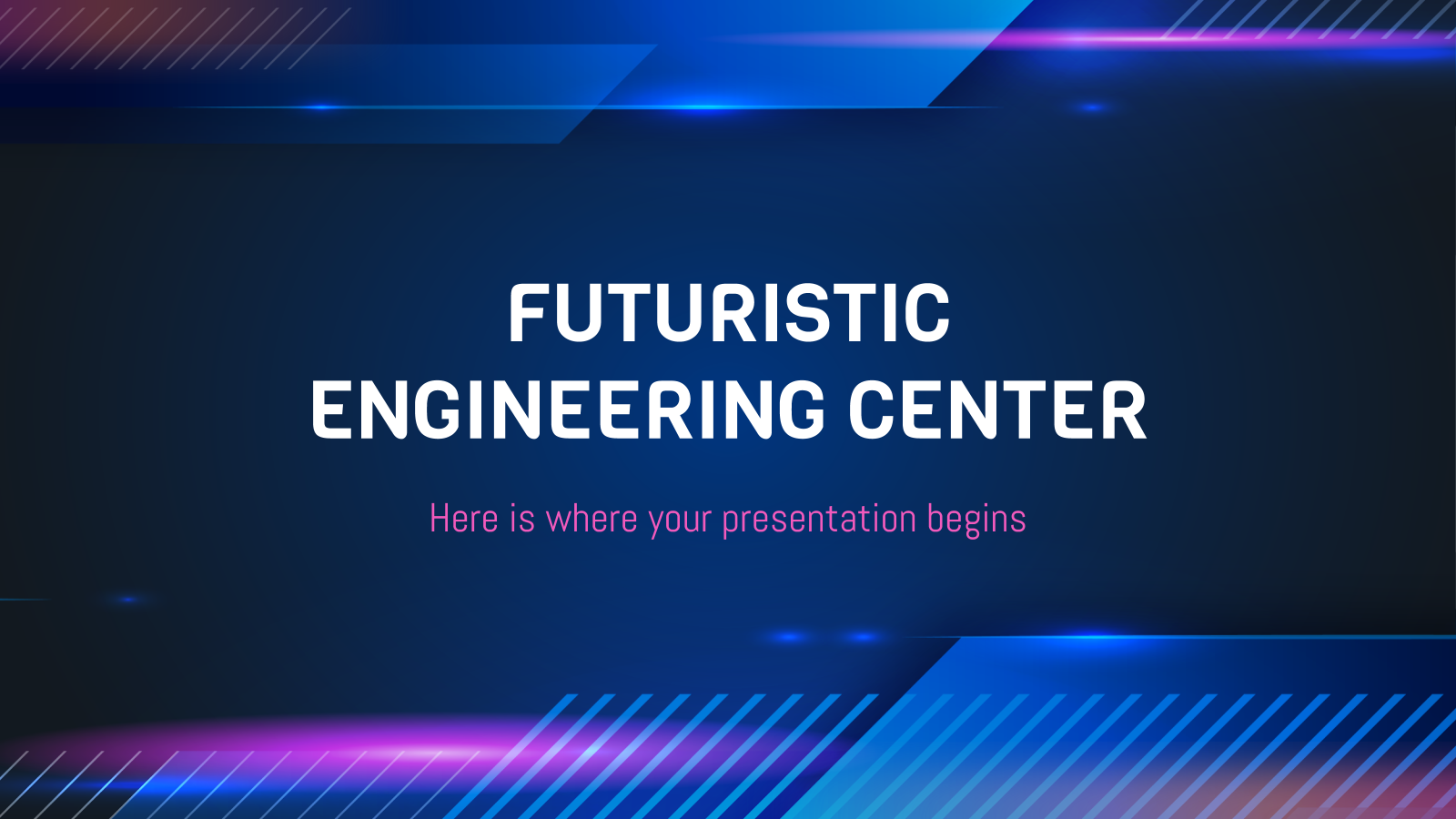 Futuristic Engineering Center presentation template
