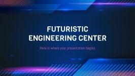 Modelo de apresentação Departamento de engenharia futurista