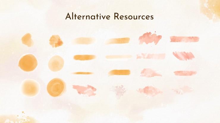 Warme farben Aquarell Beratung Toolkit Präsentationsvorlage