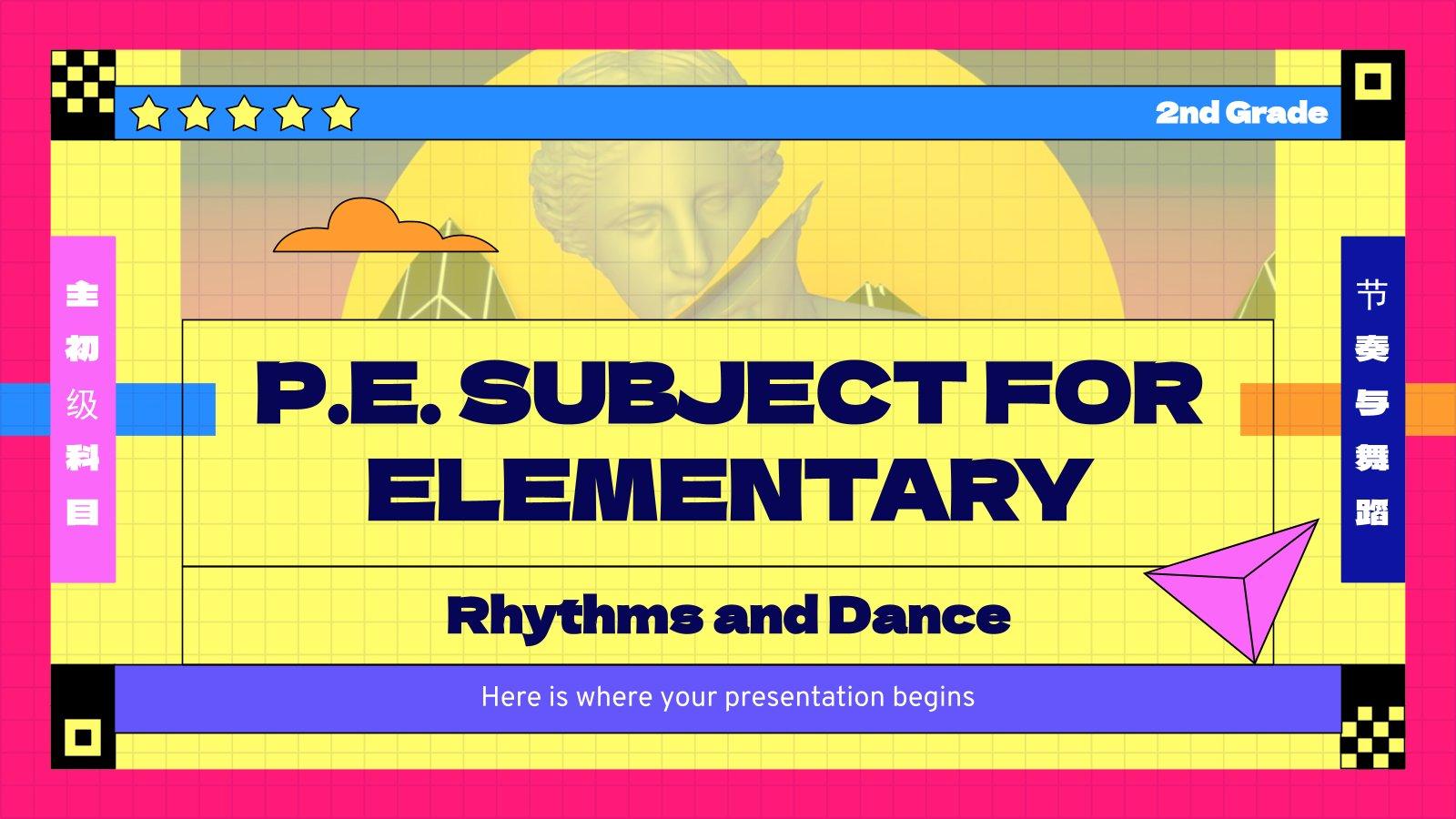 Modelo de apresentação Educação física para o ensino básico: Ritmo e dança