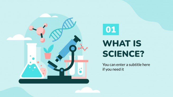 Science Subject for Middle School - 6th Grade: Biology presentation template