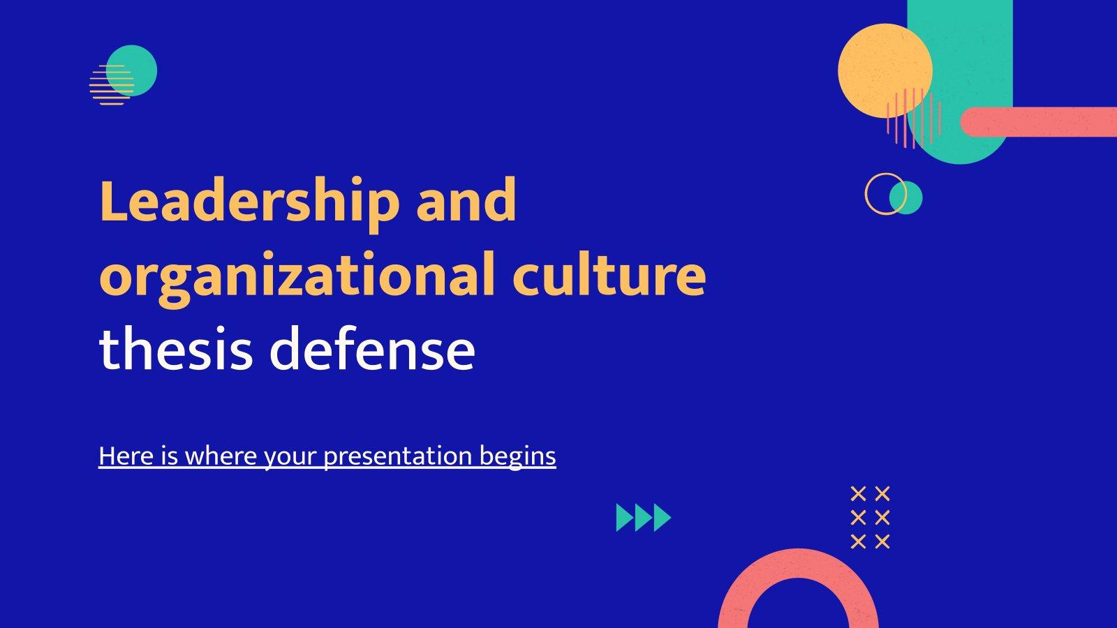 Modelo de apresentação Defesa de tese de liderança e cultura organizacional