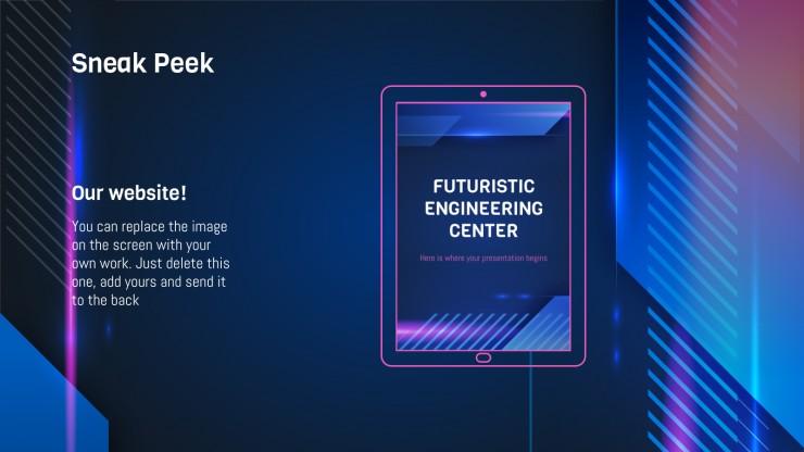 Plantilla de presentación Escuela de ingeniería futurista