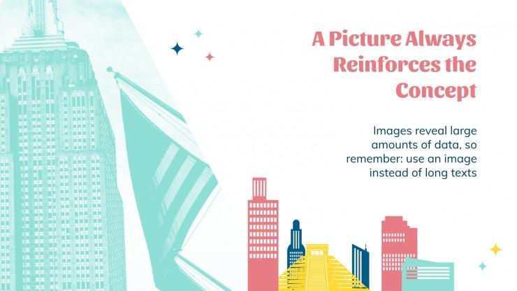 Colorful Skyline presentation template