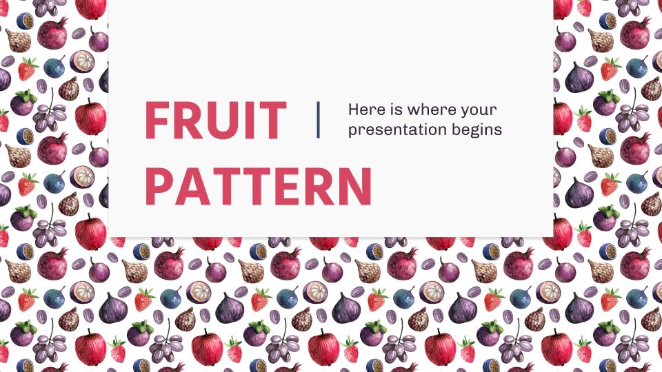 Plantilla de presentación Patrones de frutas