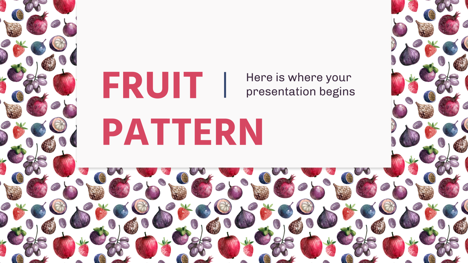 Fruit Pattern presentation template