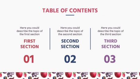 Früchte-Muster Präsentationsvorlage